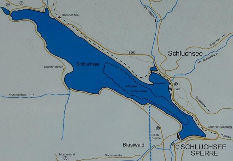 See Im Schwarzwald Badesee Schluchsee Im Sudlichen Schwarzwald