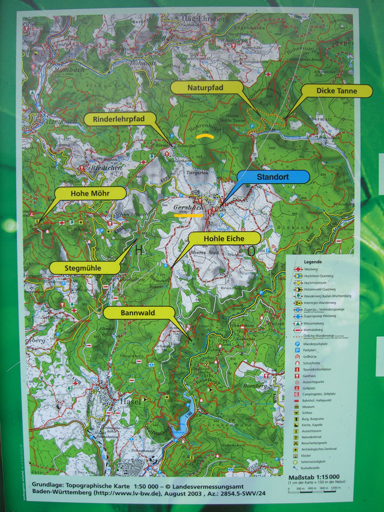 Südschwarzwald Karte.Wanderwege Schwarzwald Karte Hanzeontwerpfabriek